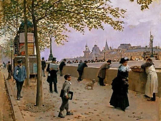 On The Banks Of The River Seine - Beraud, Jean