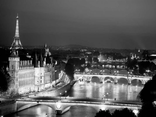 Paris And Seine River At Night - Setboun, Michel