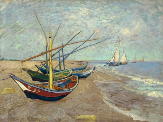 Fishing Boats On The Beach At Les Saintes-maries-de-la-mer - Van Gogh, Vincent