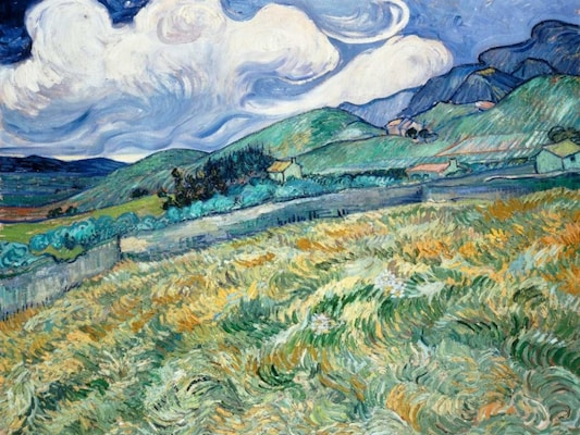 Landscape From Saint-remy - Van Gogh, Vincent