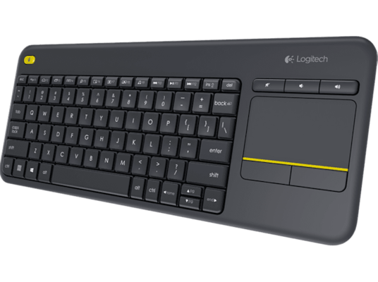 Ασύρματο πληκτρολόγιο LOGITECH Wireless Touch Keyboard K400 Plus Black - (920-007145)