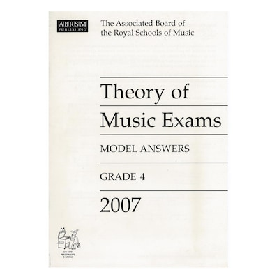 Abrsm - Theory Of Music Exams 2007 Model Answers, Grade 4