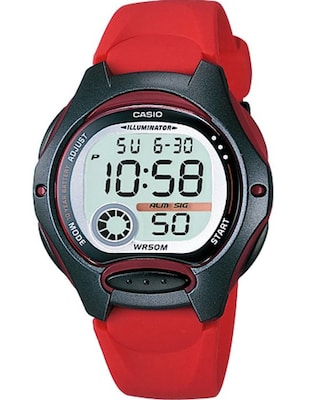 Casio Collection Digital Red Rubber Strap