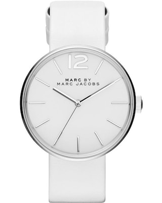 Marc By Marc Jacobs Peggy White Leather Strap