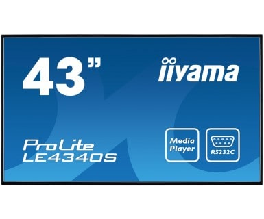 Iiyama Prolite Le4340s-b1 109.2 Cm (43 ) Led Full Hd Digital Signage Flat Panel Black