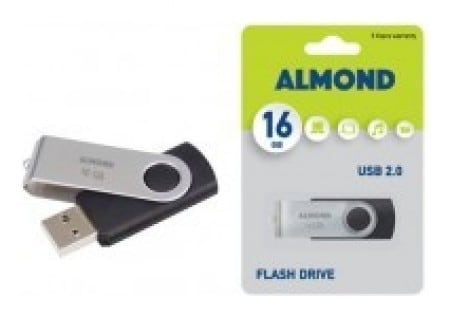 Almond Flash Drive Usb 16gb Twister Black 76479