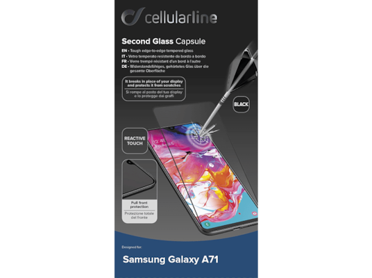 Προστασία Οθόνης Samsung Galaxy A71 Cellular Line Second Glass Capsule