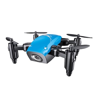 Broadream S9 Micro Foldable Rc Quadcopter Rtf 2.4ghz Blue