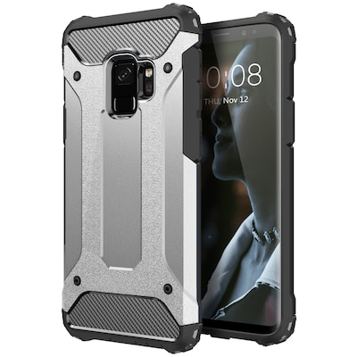 Forcell Hybrid Armor Silver Galaxy S9