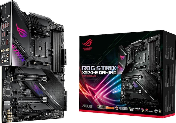 Asus Rog Strix X570-e Gaming, Amd, Socket Am4, Atx, 4xddr4, 8xsata3, M.2, Raid, Glan, Wifi+bt, Usb3.