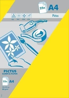 Pictus A4 Χαρτί Κίτρινο 80gr 25 Τεμ.