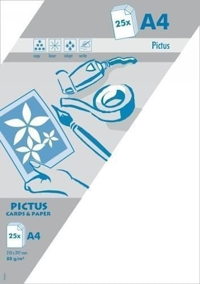 Pictus A4 Χαρτί Λευκό 80gr 25 Τεμ.