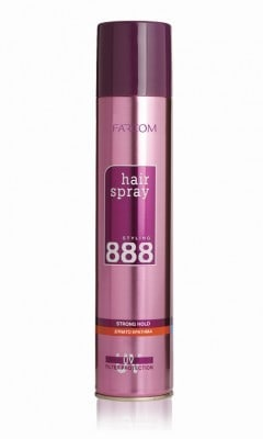 Farcom Hair Spray 888 Extra Strong Oily Hair 400ml