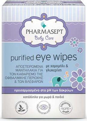 Pharmasept Baby Care Purified Eye Wipes 10τεμάχια