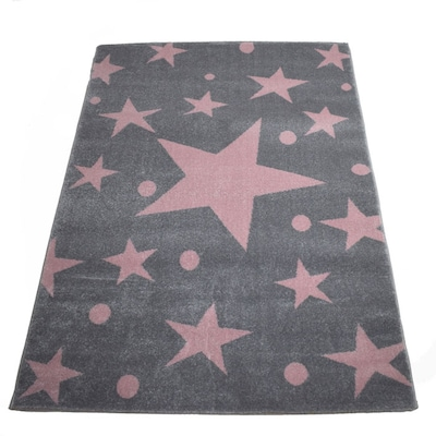 Χαλί 133x190 Breeze Stars Pink Grey