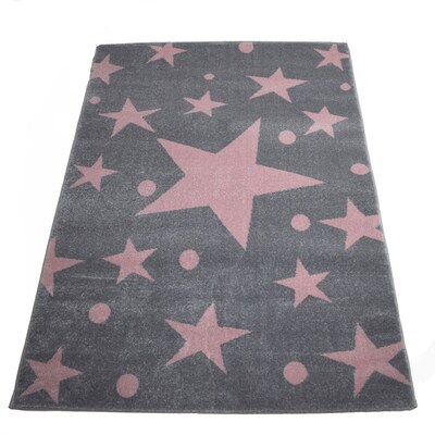 Χαλί 160x230 Breeze Stars Pink Grey