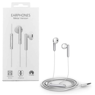 Handsfree Ακουστικά Huawei AM116 Metal Wired Stereo Earset Λευκά