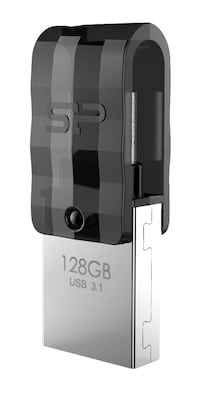 Silicon Power Dual Usb Flash Drive C31, Usb 3.1 Type C, 128gb, Μαύρο