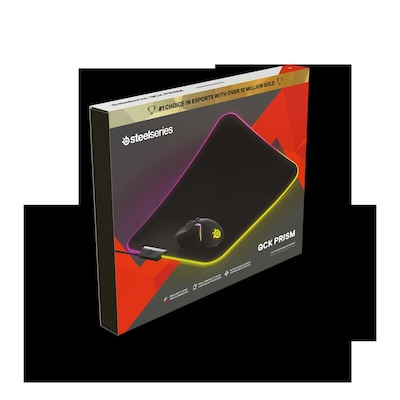 Steelseries QcK Prism RGB - Gaming Mousepad Μαύρο