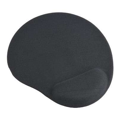 Gembird Gel Mouse Pad With Wrist Rest Black Mp-gel-bk