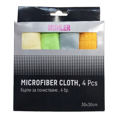 Microfiber Cloth Mr-2122, 4 Pcs.