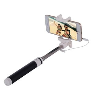 Macarons Selfie Stick MONOPOD, Folded Length: 18.9cm, Max Extension Length: 81.6cm Black