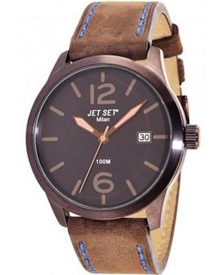 Ρολόι Jet Set Milan Black Leather Strap