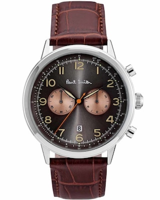 Ρολόι Paul Smith Chronograph Brown Leather Strap