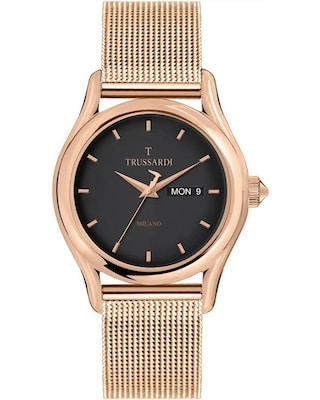 Trussardi T-light Rose Gold Stainless Steel Bracelet