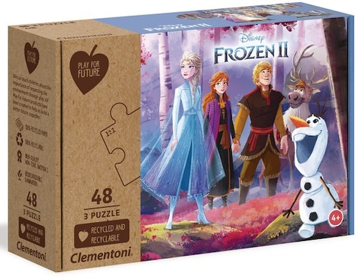 Παζλ Clementoni Frozen II Eco Play For Future (3Χ48 Κομμάτια)