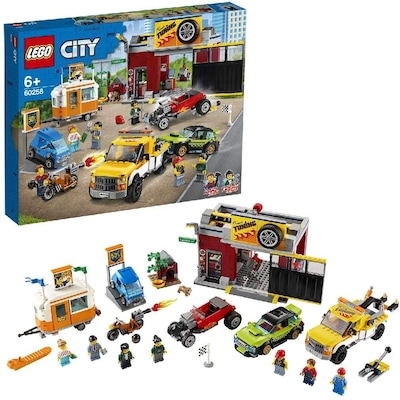 Lego 60258 City Nitro Wheels Tuning Workshop Building Set With Tow Truck, Hot Rod