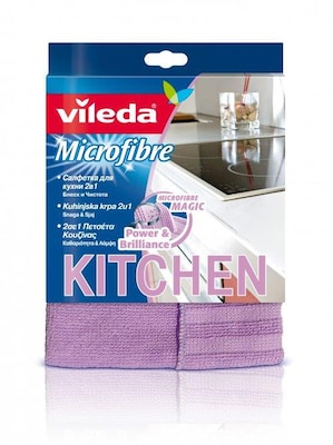 Vileda Microfibre 2in1 Cleaning Cloth Microfiber