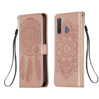 For Galax1 A21 Dream Catcher Printing Horizontal Flip Leather Case (rose Gold)