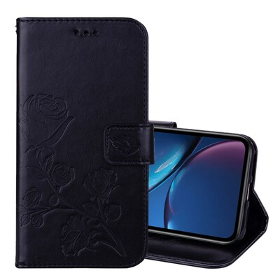 Rose Embossed Horizontal Flip Pu Leather Case For Iphone Xr,  With Holder - Card Slots - Wallet