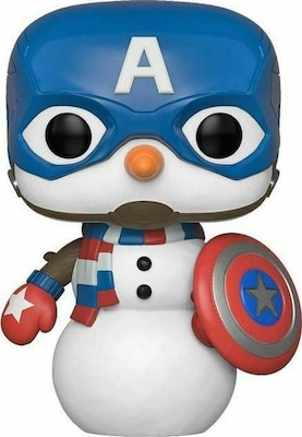 Funko Pop! Pen Topper : Marvel Holiday - Captain America Snowman Figurine