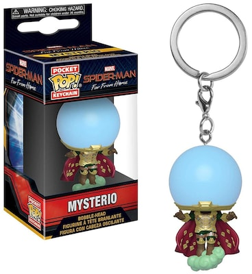 Funko Marvel Spider-man Far From Home Pocket Pop! Mysterio Bubble-head Figure Keychain