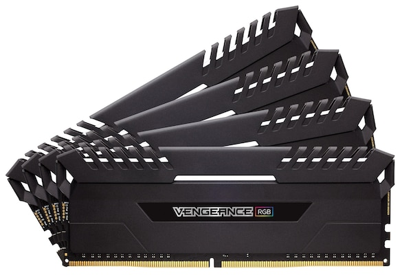 Corsair Vengeance Rgb 32gb Kit (4x8gb) Ddr4 3000mhz C16 1.35v Black (cmr32gx4m4c3000c16)