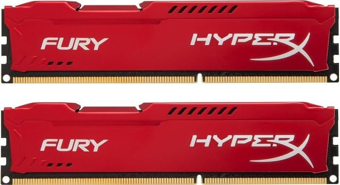 Kingston Hyperx Fury Red Series 16gb (2x 8gb) Ddr3 1600mhz (hx316c10frk2/16)