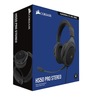 Corsair HS50 Pro Stereo - Wired Gaming Headset  Μπλε