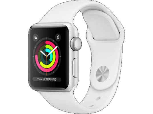 Apple Watch Series 3 38mm Aluminum Silver Sport Band White (2018)
