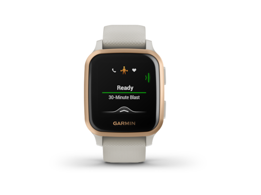 Smartwatch Garmin Venu SQ - Light Sand/Rose Gold