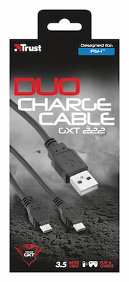 Trust GXT 222 Duo Charging Cable - Καλώδιο Φόρτισης PS4