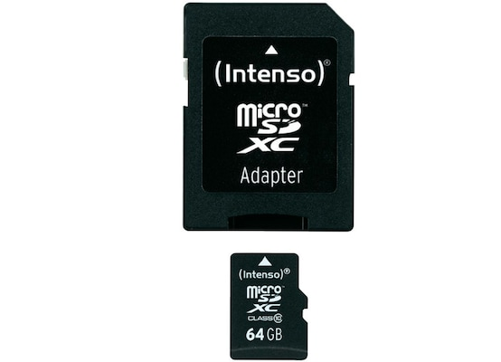 Κάρτα μνήμης microSDXC 64GB Class 10 & SD Adapter - Intenso 3413490