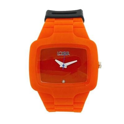 Ρολόι Loisir Με Κόκκινο Καντράν Και Silicon Strap 83ea1120639