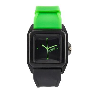 Ρολόι Loisir Με Μαύρο Καντράν Και Silicon Strap fb35f151087