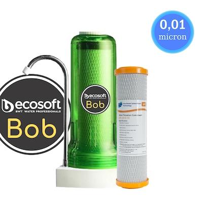Φίλτρο Nερού Άνω Πάγκου Ecosoft Bob (Green) 10 inch Με Ανταλλακτικό Φίλτρο PURE UFC 2510-10 10μm Και Μεμβράνη 0,01μm