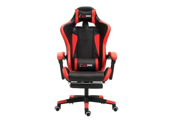 Καρέκλα Gaming Με Υποπόδιο Herzberg Hg-8080red, Κόκκινη