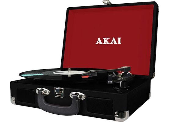 Πικάπ Βαλίτσα Με Εγγραφή Σε Usb / Κάρτα Sd Και Ενσωματωμένα Ηχεία Akai Att-e10