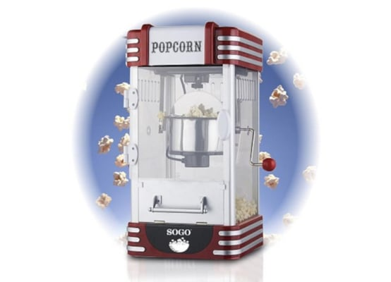 Sogo Συσκευή Popcorn Xxl Πόπ Κόρν 310w Retro Old Fashioned, Pop Corn Maker, Pal-ss-11350