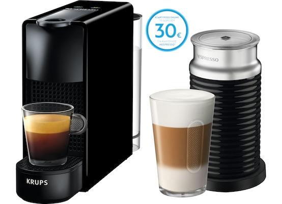 Καφετιέρα Krups Nespresso Essenza Mini Aero - Μαύρη